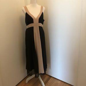 Jonathan Martin Black and Cream Dress